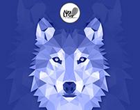 Vector art: a Wolf