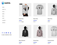 Shop Full Page - Marvel WordPress Theme