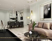 Thiết kế nội thất chung cư An Bình City - căn B1 A3
