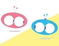 Rosie & Zigie   Character Design
