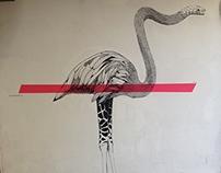 Boa Flamingoraffe. Athens. 2015