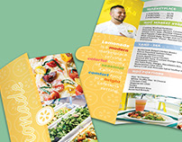 Restaurant Advertising Brochure with Cutout Mockup