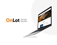 web-design, UI Сайт «OnLot-Онлайн Аукцион»