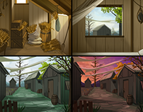 Visual Novel Background Art