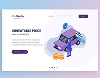 Car Rent Web Design (UI / UX)