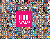 Set of 1000 avatar