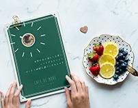 Cafe De More -メニュー表デザイン-