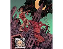Daredevil and Elektra commission