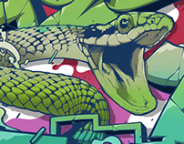 Snake Sunches Graffiti