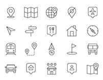20 Map Navigation Vector Icons