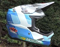 Reece Wilson's Custom Painted Kabuto Downhill Helmet