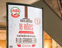 Afiche Chili's - 18 Años