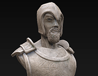 Game asset statue