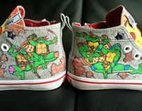 Hand painted Ninja Turtle shoes