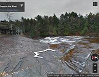 Presque Isle River Google Maps Imagery