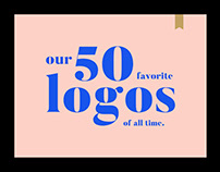 Our 50 favorite logos of all time.