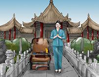 Garuda airline storyboard - Xian
