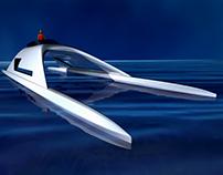 High-Speed Catamaran. Option 4.