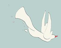 Fluid animation - flying bird
