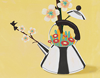 Natural Infusion with Alessi Bird Teapot - Elle Decor