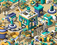 Robot clone factory