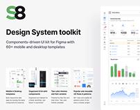 Figma UI kit - Desktop & Mobile Responsive Templates
