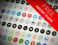 Free vector icons of 19 social networking