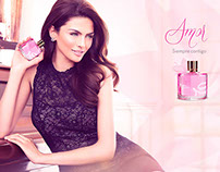 Fragrance ad campaign for Amor by Ilusion