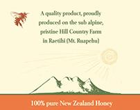 Honey Label The river lodge, Ohakune, New Zealand