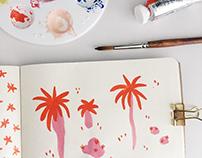 Sketchbook / gouache painting