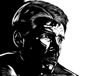Blade Runner (Rick Deckard) B&W Illustration