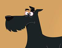 Annoying dog character design
