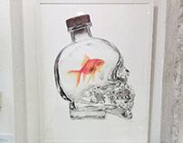 """Memory Fish"" BIC ballpen drawing"