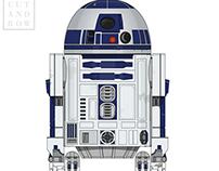 R2 - D2 Cut & Bow