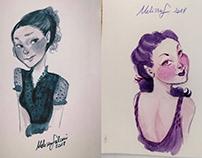 Ladies sketches