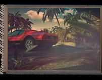 100%CGI Hawaii - Ferrari 512 bbi