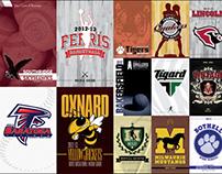 2012-13 Basketball/Baseball Media Guide Covers