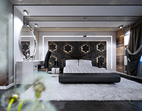 Dark modern bedroom