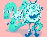 2018 Monster Lettering