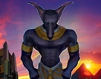 Anubis Concept Art and Model