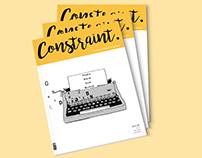 CONSTRAINT. Magazine design concept