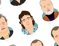 Bill Murray - Illustrated Filmography / Work in Progres