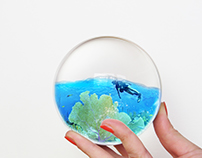 Man Diving in Glass Ball Photoshop Manipulation Tutoria