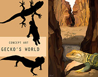 Concept-art with gecko