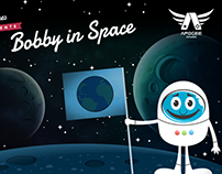 Graphic art to Bobby in Space game made by Apogee Games