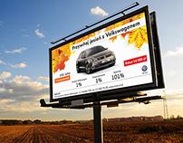 Projekt graficzny billboardu i reklamy prasowej