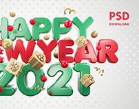Happy New Year 2021 Vol.2 / 4000×2500 pixels / PSD