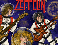 Led Zeppelin / Space Poster