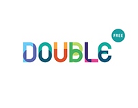 Double. Free font.