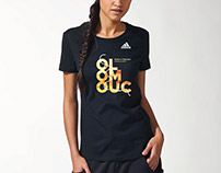 Graphic design of prints on adidas T-shirts